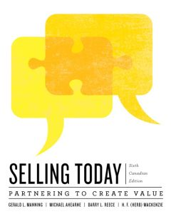 Solution Manual (Complete Download) for   Selling Today: Partnering to Create Value
