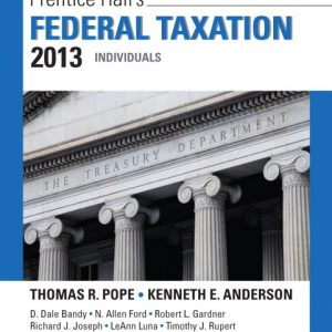Solution Manual (Complete Download) for   Prentice Hall's Federal Taxation 2013 Individuals