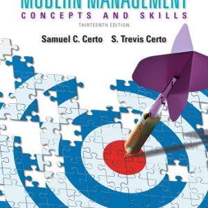 Solution Manual (Complete Download) for   Modern Management: Concepts and Skills