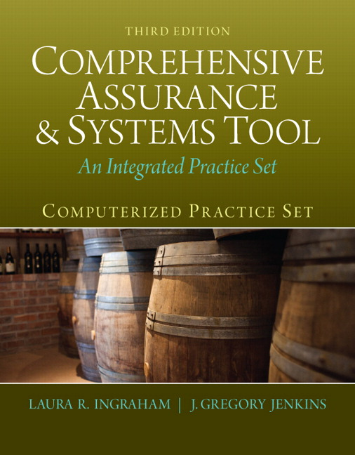 Solution Manual (Complete Download) for   [There is NO Solution For PeachTree] Computerized Practice Set for Comprehensive Assurance & Systems Tool (CAST)