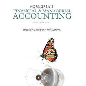 Solution Manual (Complete Download) for   Horngren's Financial & Managerial Accounting