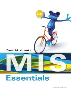 Solution Manual (Complete Download) for   MIS Essentials