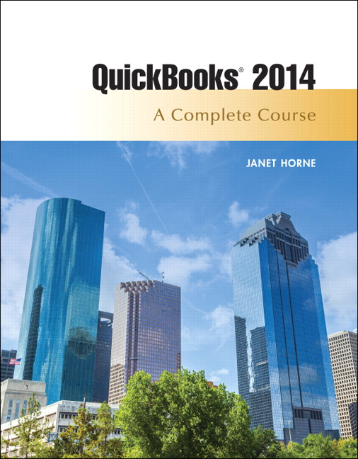 Solution Manual (Complete Download) for   Quickbooks 2014: A Complete Course