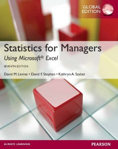 Solution Manual (Complete Download) for   Statistics for Managers using MS Excel