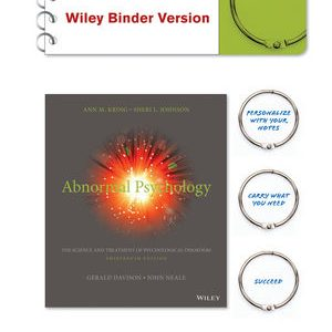 Solution Manual (Complete Download) for   Abnormal Psychology