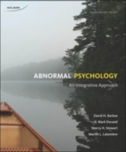 Solution Manual (Complete Download) for   Abnormal Psychology: An Integrative Approach