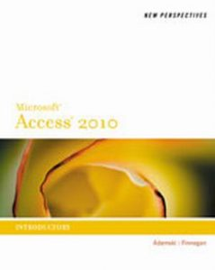 Solution Manual (Complete Download) for   New Perspectives on Microsoft'® Access 2010