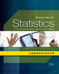 Solution Manual (Complete Download) for   Statistics for Management and Economics
