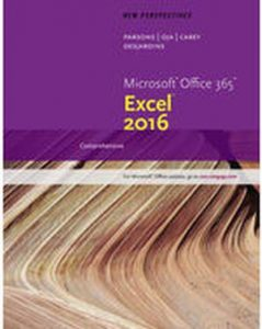 Solution Manual (Complete Download) for   New Perspectives Microsoft'® Office 365 & Excel 2016: Comprehensive